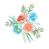 girlandę kwiatów akwarela ilustracji