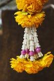 Girlanda żółty feston Obrazy Stock