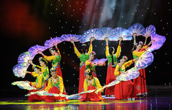 Girlanda---Koreański taniec Obrazy Stock
