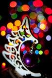 Girlanda nowego roku ` s elektryczna wigilia zdjęcie royalty free