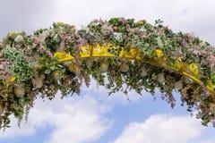Girlanda robić sztuczny kwiat Obrazy Stock