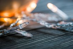 Girlande als Dekoration für das neue Jahr Lizenzfreie Stockfotos