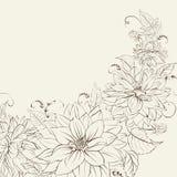 Girlande der Chrysantheme lokalisiert. Lizenzfreie Stockfotos