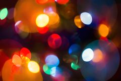 Girlande, varicoloureds Flecken des Lichtes Lizenzfreie Stockfotografie