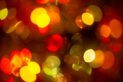 Girlande, varicoloureds Flecken des Lichtes Stockbild