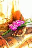 Girlande von frischen Blumen (Phoung Malai: Thailand handgemacht) Lizenzfreie Stockbilder
