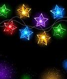 Girlande von Sternen stock abbildung