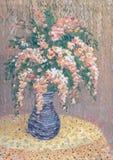 Girlanden der rosafarbenen Blumen Stockfotos