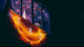 Girlanden för många tänder den färgrika jul flyttning lager videofilmer