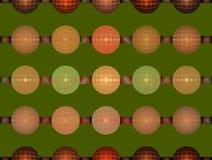 Girlanden von Ballonen auf einem grünen Hintergrund Lizenzfreie Stockbilder