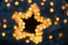 Girlandy, nowy rok dekoracji świateł skutki obraz royalty free