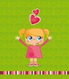 Girld illustration Stock Image