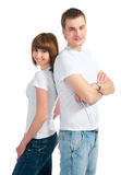 Girle and guy Stock Image