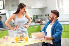 Girlfriend with boyfriend in dialog royalty free stock photos
