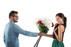 Girlfriend and boyfriend Royalty Free Stock Image
