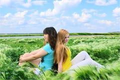 Girlfriend converse inside Royalty Free Stock Image