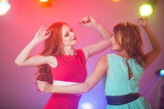 Girlfriend dance royalty free stock images