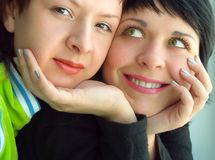 Girlfriends. Pretty girlfriends Stock Images