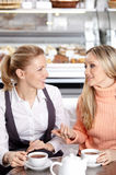 Girlfriends in cafe Royalty Free Stock Images