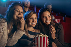 Girlfriends at the cinema Royalty Free Stock Image