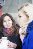 Girlfriends and conflict Stock Image