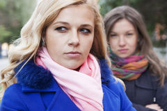 Girlfriends and conflict Royalty Free Stock Images