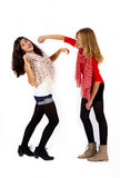 Girlfriends fighting Royalty Free Stock Images