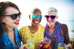 Girlfriends Friendship Party Happiness Summer Concept Stock Images