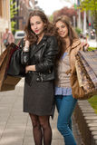 Girlfriends go shopping. Stock Image