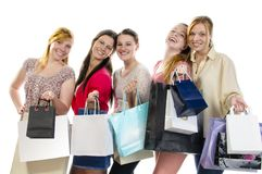 Girlfriends go shopping Royalty Free Stock Photography