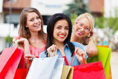 Girlfriends Gone Shopping Stock Photos