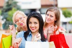 Girlfriends Gone Shopping Stock Photos