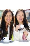 Girlfriends having coffee Stock Image