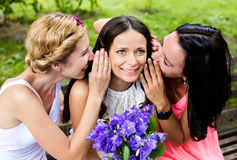 Girlfriends having fun in the park Royalty Free Stock Photography
