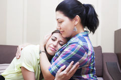 Girlfriends hug Stock Photography