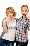 Girlfriends mocking Royalty Free Stock Photo