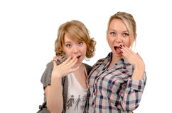 Girlfriends mocking Royalty Free Stock Image