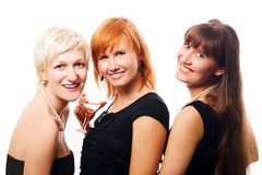 Girlfriends on the party Royalty Free Stock Photography