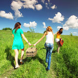 Girlfriends on picnic Royalty Free Stock Photos