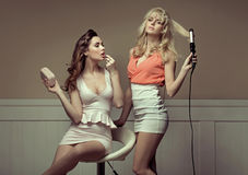 Free Girlfriends Preaparing To Going Out Royalty Free Stock Photos - 30138088