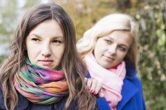 Girlfriends quarrel Stock Image
