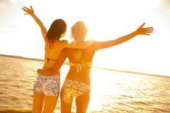 Girlfriends on resort Royalty Free Stock Photos