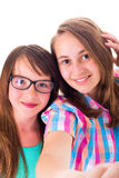 Girlfriends in a selfie Royalty Free Stock Photo