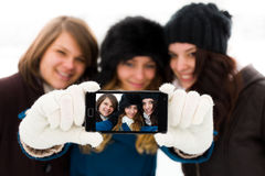 Girlfriends Selfies Royalty Free Stock Photography