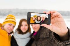 Girlfriends Selfies Royalty Free Stock Images