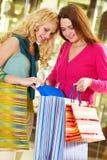 Girlfriends shopping Royalty Free Stock Photo