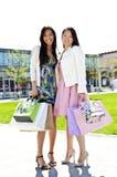 Girlfriends shopping Stock Image