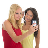 Girlfriends taking selfie Royalty Free Stock Photo