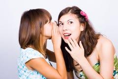 Girlfriends talking Stock Photos