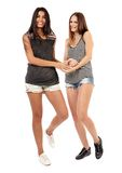 Girlfriends talking and having fun Royalty Free Stock Image